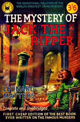 Leonard Matters Book on Jack The Ripper